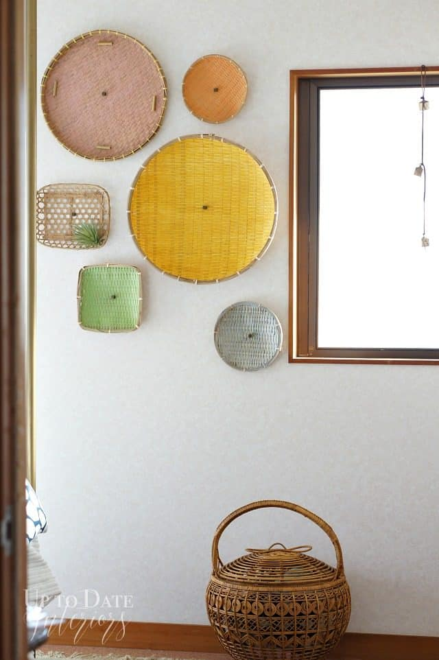 diy wall basket with thrift store finds