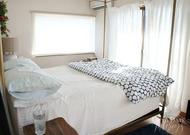japanese rental bedroom before $100 makeover