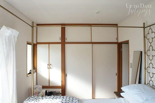 bedroom-makeover-builtins-before in Japanese rental home