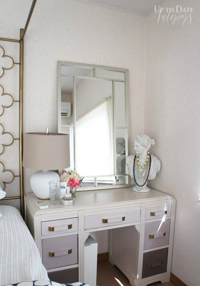 desk to be used as a vanity