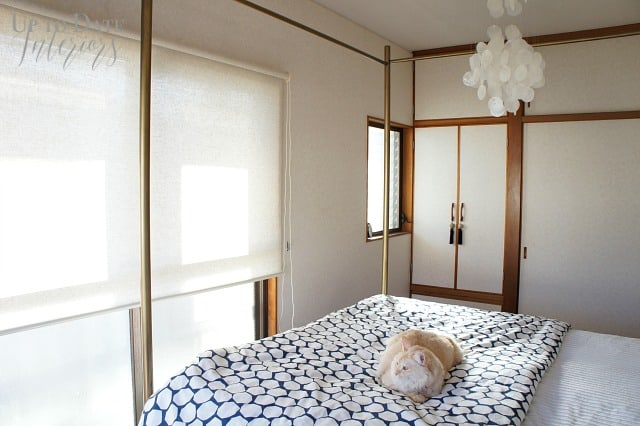 japanese bedroom with neutral shades