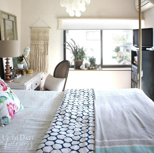 renter friendly bedroom makeover