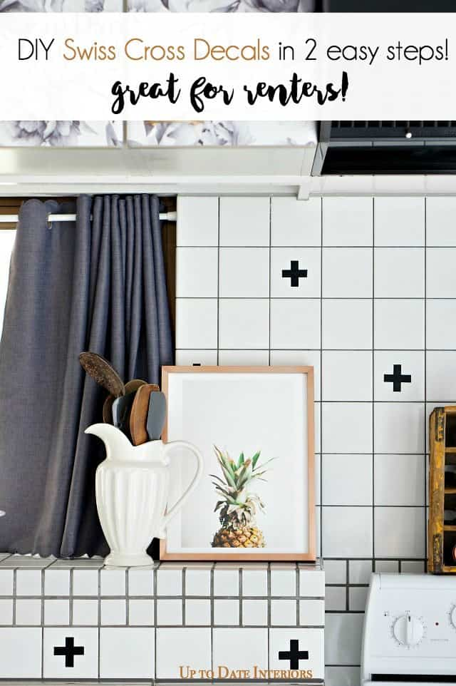 kitchen-pineapple-swiss-cross-DIY that's renter friendly!