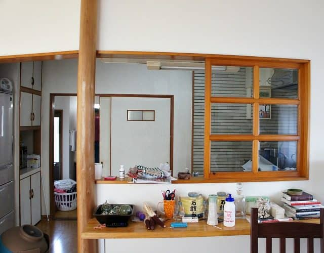 rental kitchen in traditional japanese home