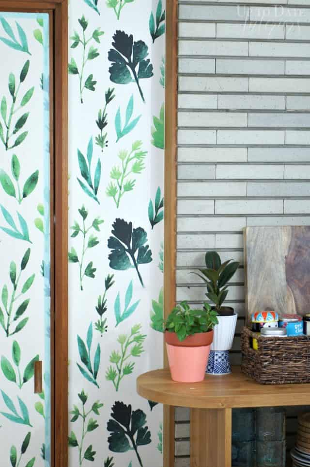 removable wallpaper in japanese rental kitchen