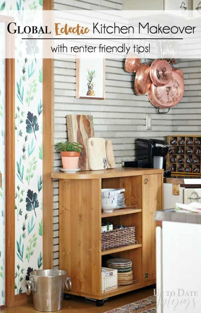 global eclectic kitchen makeover with renter friendly tips