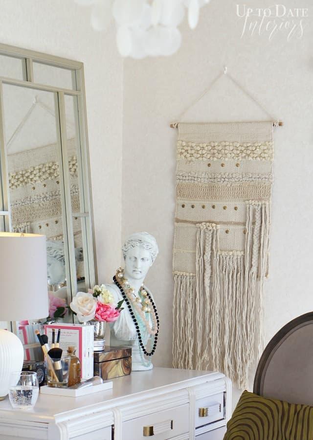 moroccan wedding blanket style wall hanging