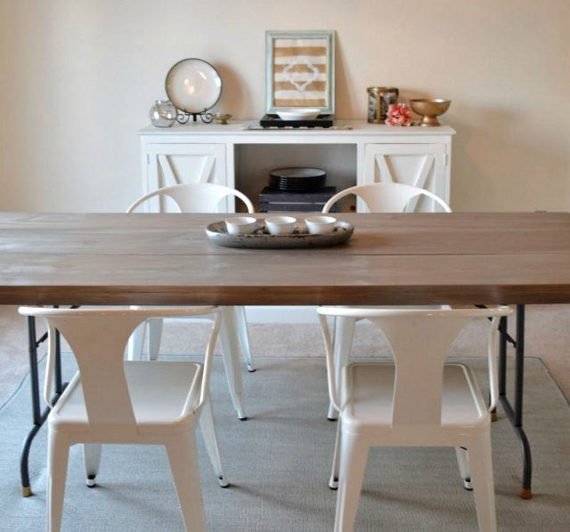 folding table to dining table