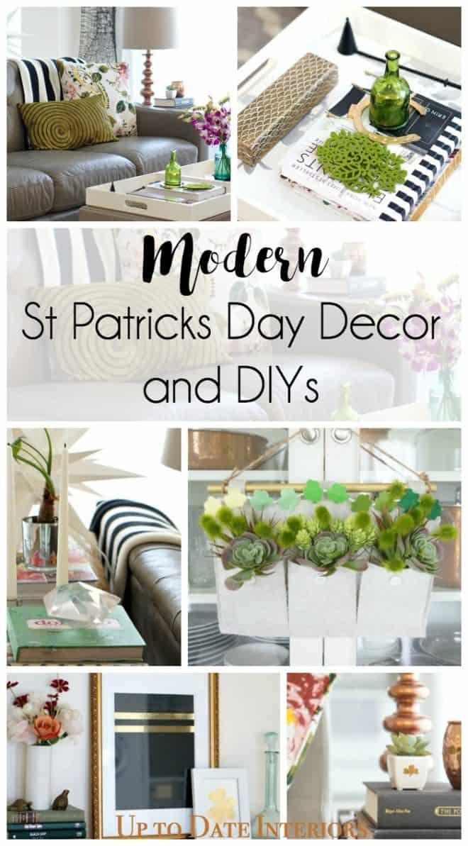 modern st patty's decor and DIYS