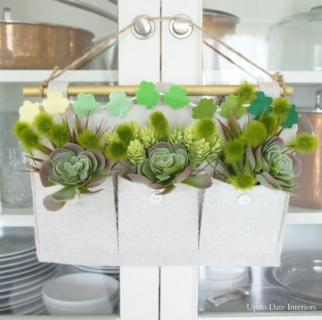 st patricks day succulent wall hanging