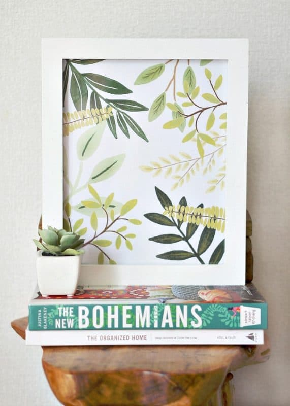 free printable greenery to add pantones color of the year to your home!