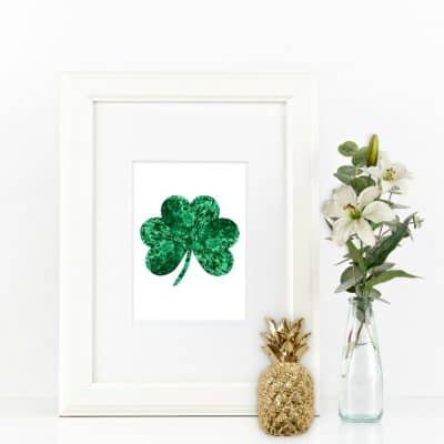 Free St Patricks Day Malachite Shamrock Printable