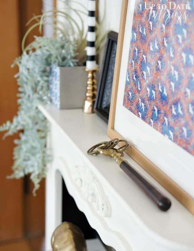 fireplace decor inspired by Genevieve Gorder
