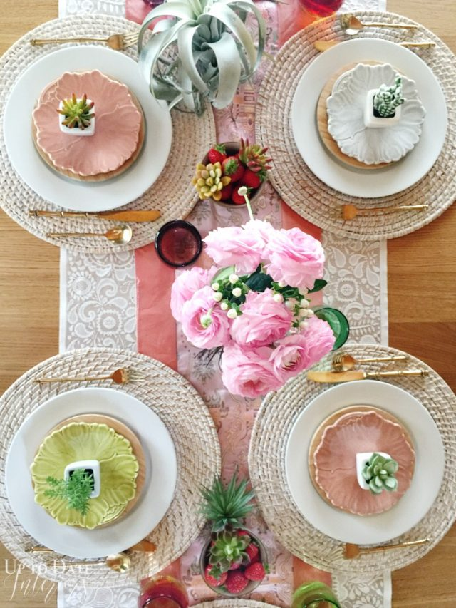put together an eclectic boho tablescape in minutes