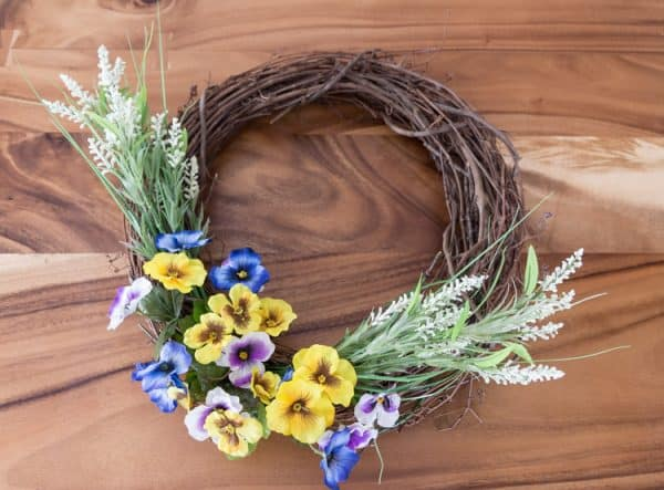 spring wreath 15 minutes