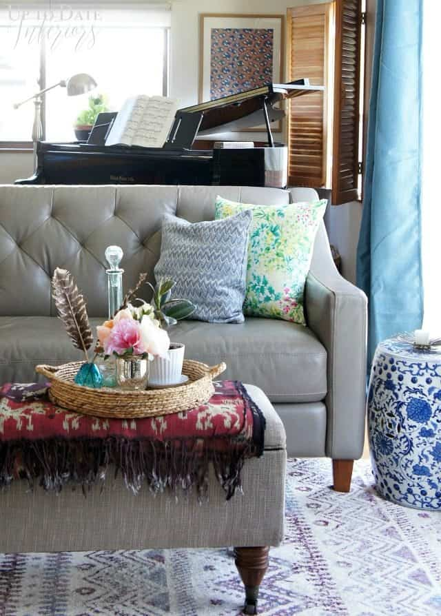 Milies Redd inspired living room with decorating tips