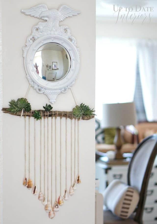 diy-seashells-and-plants-wall-hanging