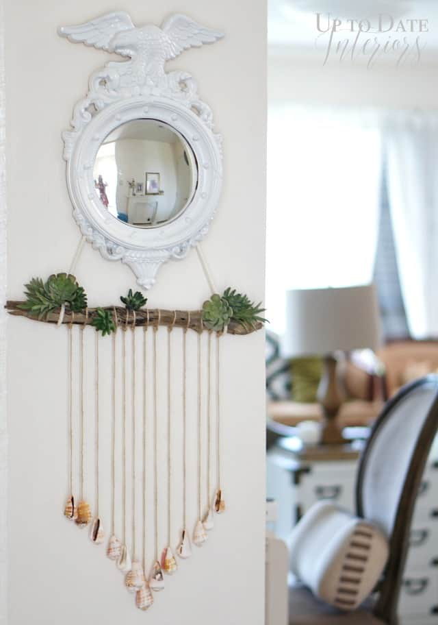 diy-seashells-and-plants-wall-hanging-with-mirror-in-bright-and-airy-home