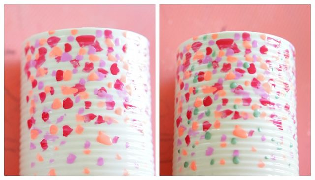 Dollar store vase diy with fingernail polish