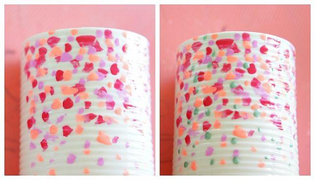 Dollar store vase diy with fingernail polish