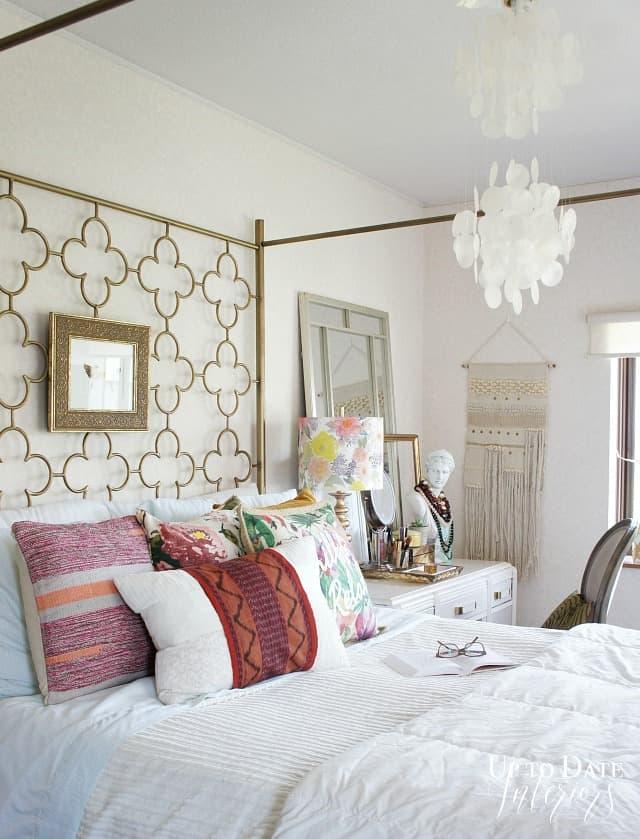 Iris Apfel inspired global bedroom