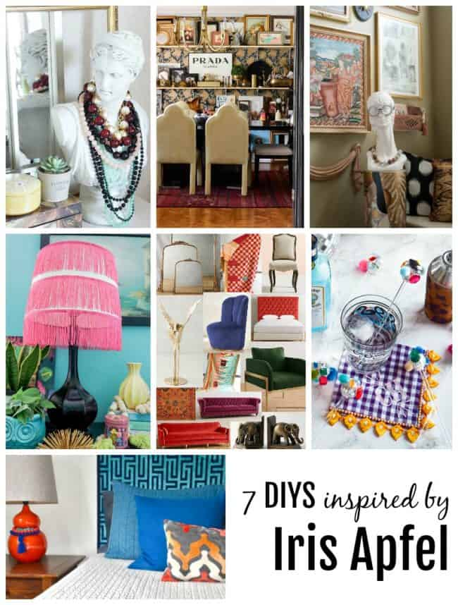 iris apfel inspired DIYs collage