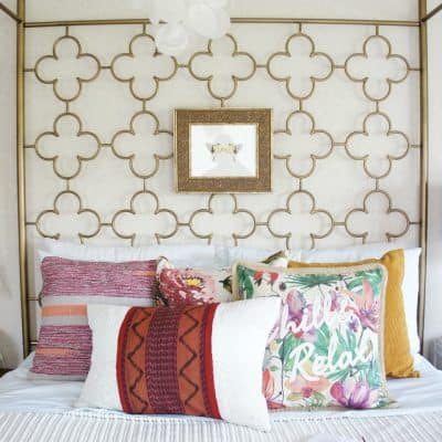 how to dress a bed with layered pillows