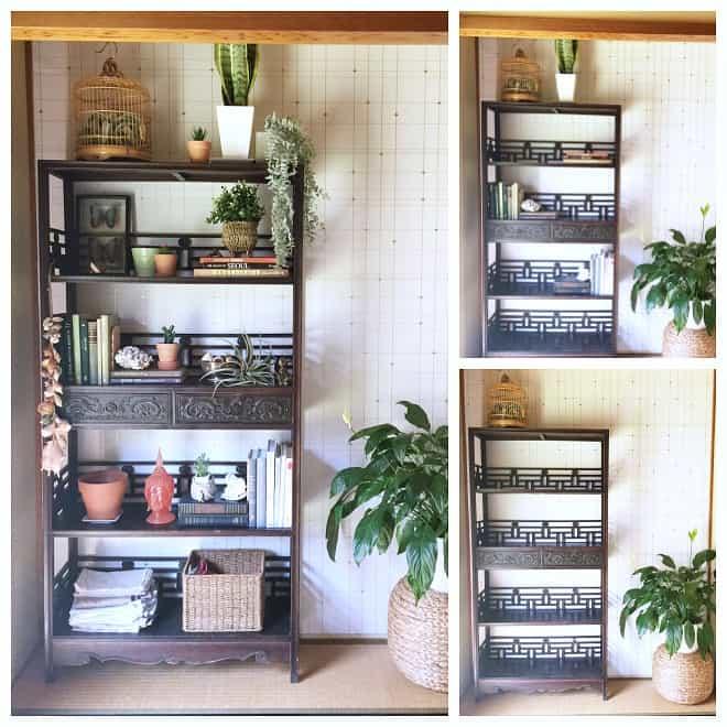 bookcase styling steps