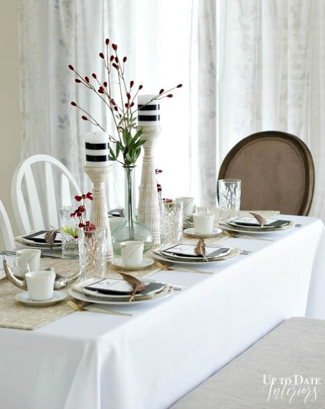 use a folding table in a rental to seat more guests