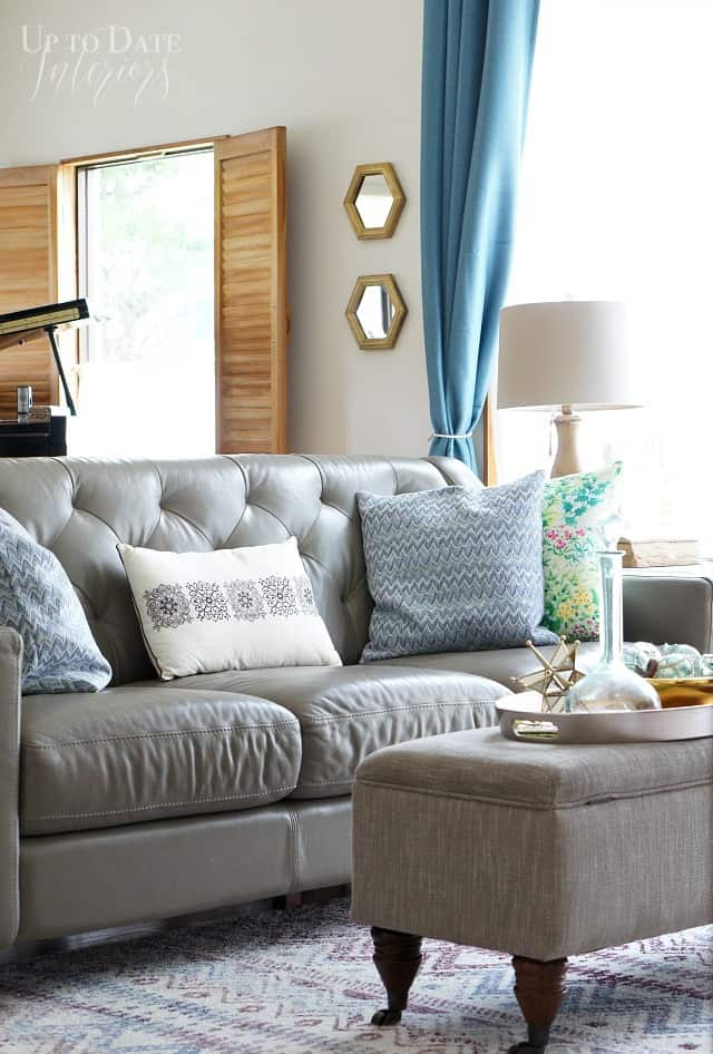 Summer home tour living room with eclectic style