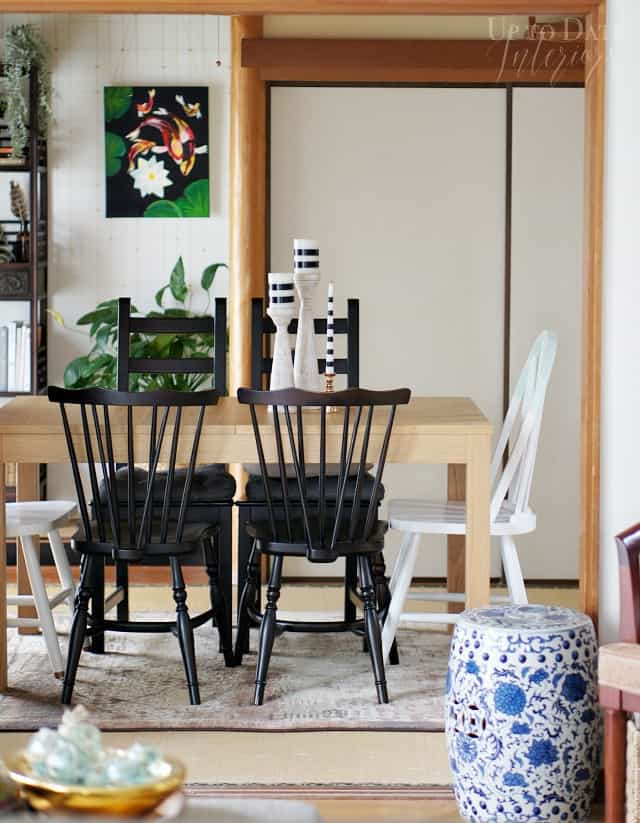 global eclectic dining room inspired by SJP