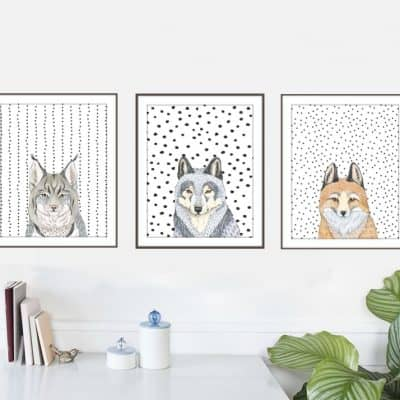 free printables of animal heads with polka dots