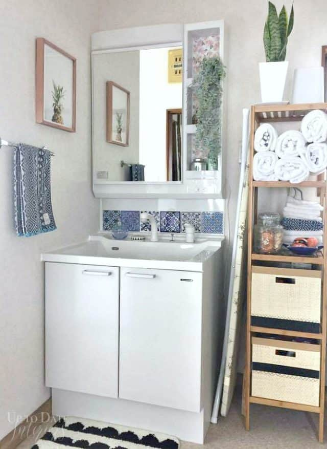 global eclectic rental bathroom makeover