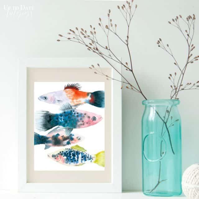 watercolor fish art
