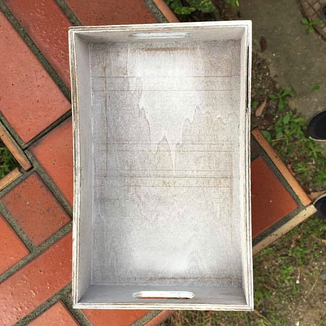 transform a dollar store tray into global inspired decor