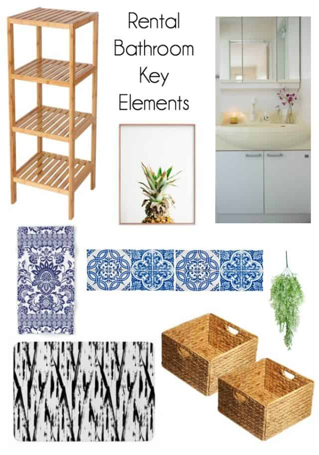 rental bathroom key elements