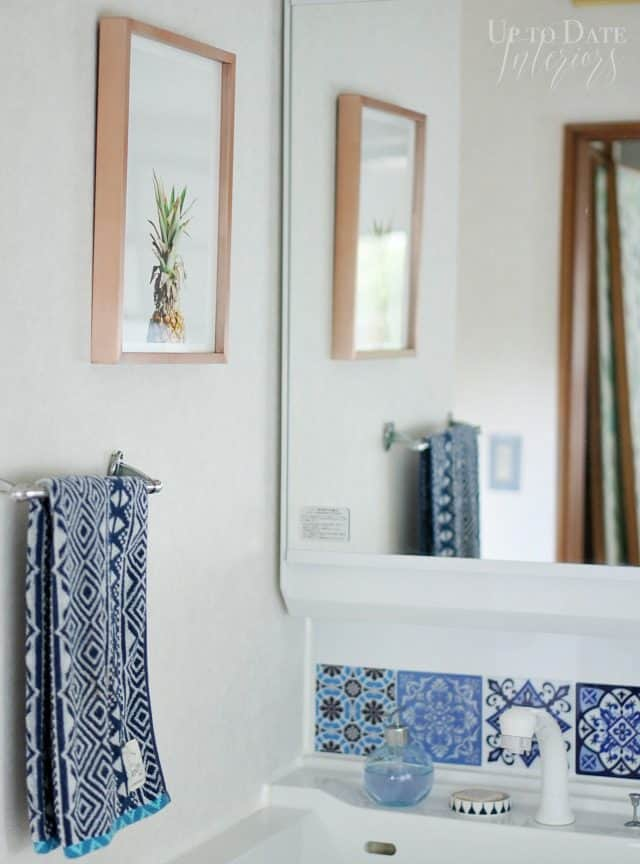 global eclectic bathroom with renter friendly diys