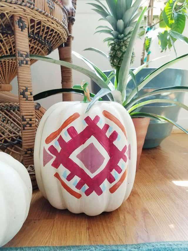 kilim inspired pumpkins
