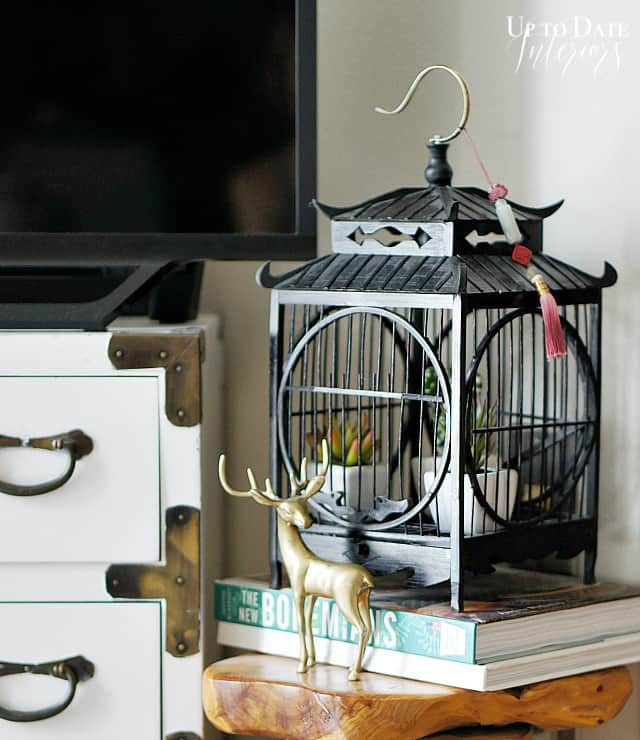 eclectic fall decor with Birdcage