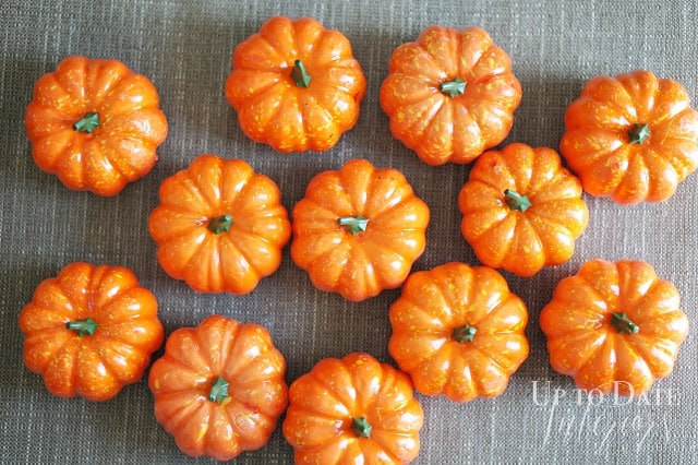 faux pumpkins for painting and DIY