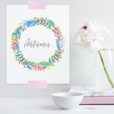 autumn-styled-flower free printable