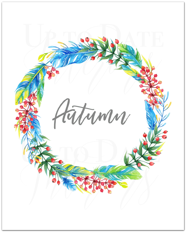 free autumn and wreath printable