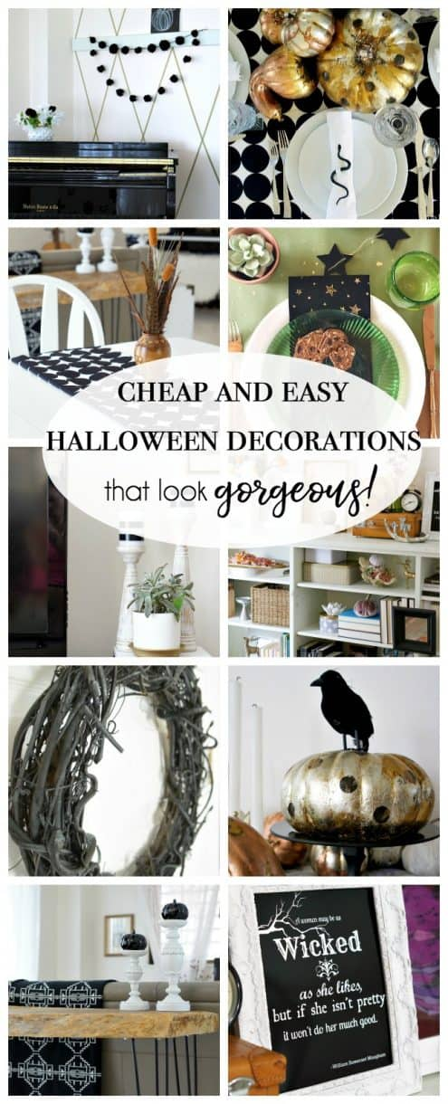 cheap and easy halloween decorations that look gorgeous