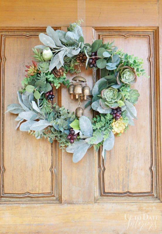 eclectic-fall-wreath-succulents-bells