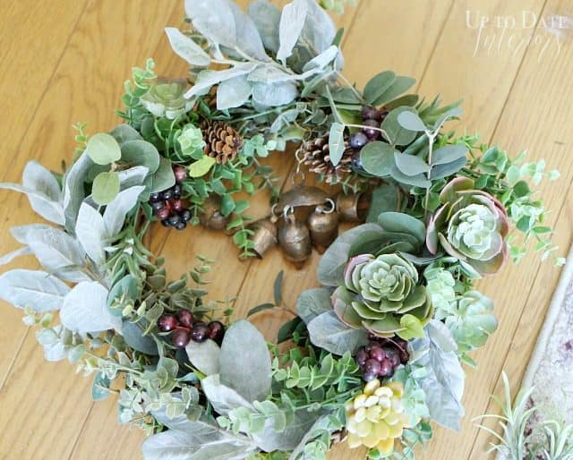 Fall wreath with bells