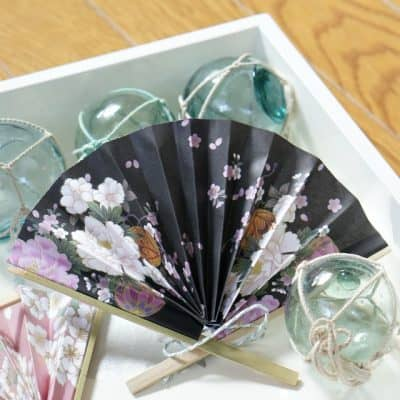DIY Japanese Paper Fan Ornaments