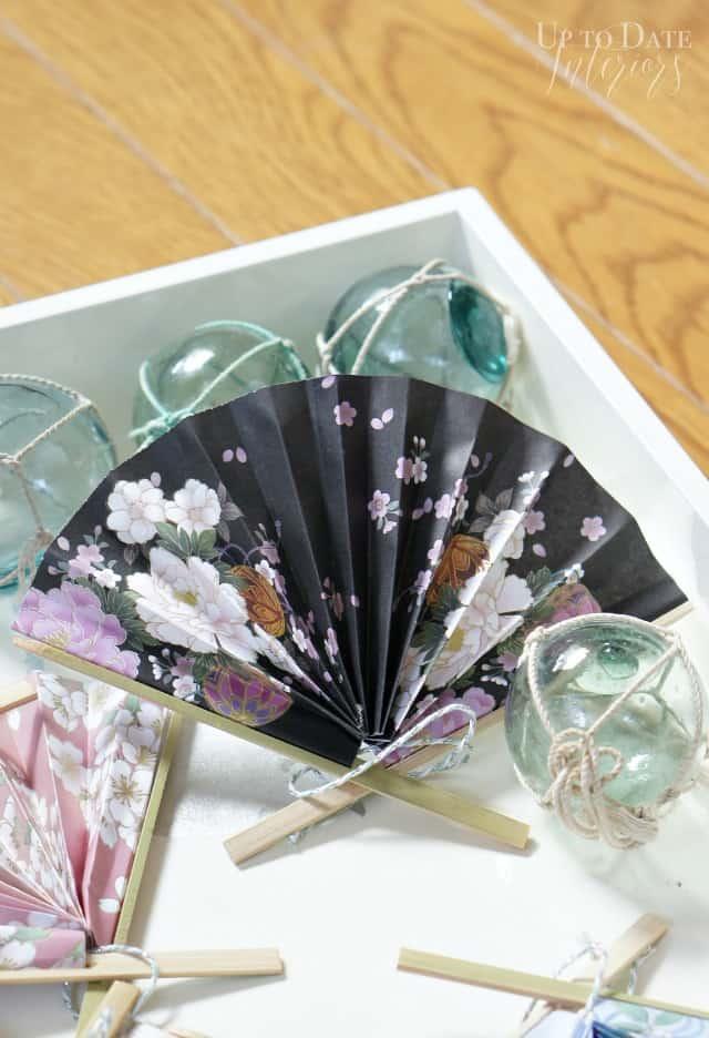 DIY Japanese Paper Fan Ornaments