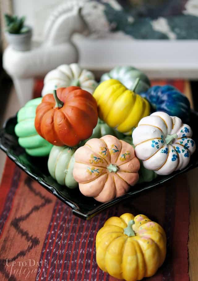 global eclectic Fall decor pumpkins
