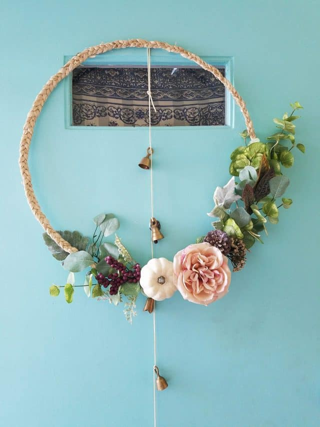 DIY scandi boho wreath