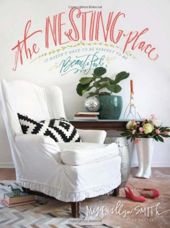 The Nesting Place and other bloggers to books in home decor and DIY